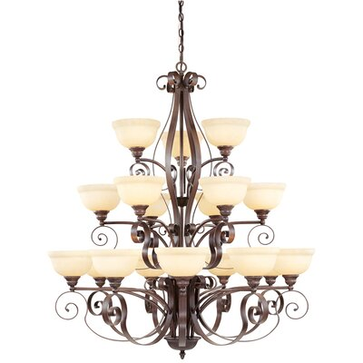 Brew Kettle 18-Light Shaded Chandelier