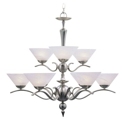 Lucai 9-Light Shaded Chandelier