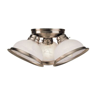 Danna 3-Light Flush Mount Color: Brushed Nickel