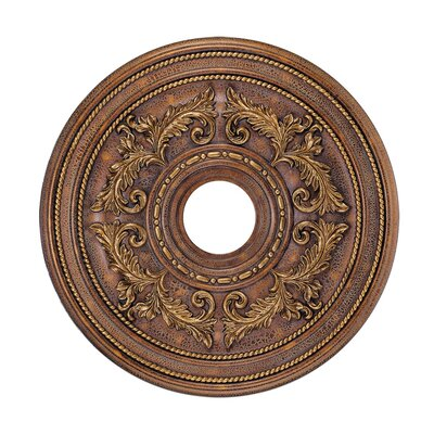 Ceiling Medallion in Crackled Greek Bronze Size: Small