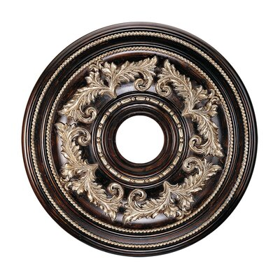 Ceiling Medallion in Hand Rubbed Bronze with Antique Silver Accents Size: Medium