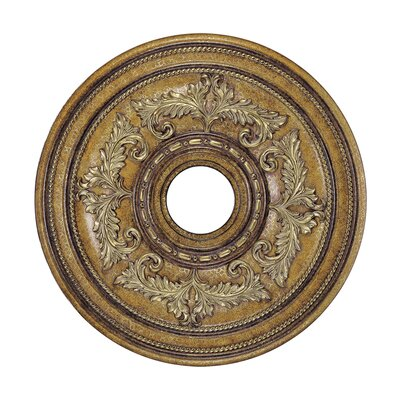 Ceiling Medallion in Venetian Patina Size: Extra Small