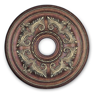 Ceiling Medallion in Palacial Bronze with Gilded Accents Size: Large