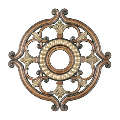 Ceiling Medallion in Venetian Patina Size: 1.5 H x 23.5 W x 23.5 D