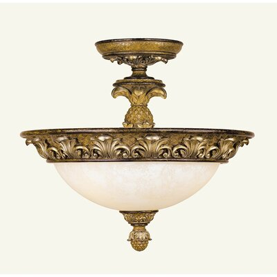 Scotland 3-Light Semi Flush Mount