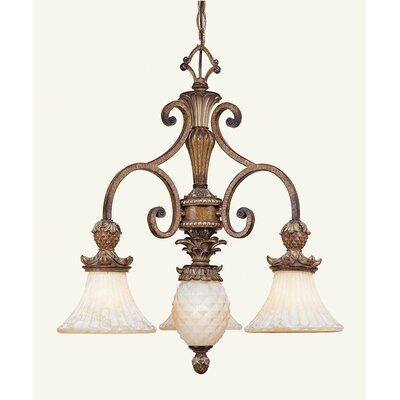 Scotland Traditional 4-Light Shaded Chandelier