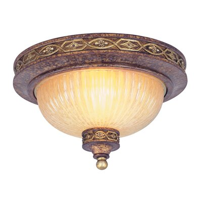 Schweizer 2-Light Flush Mount Size: 7 H x 11 W x 11 D