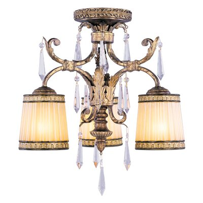 Perot 3-Light Semi Flush Mount