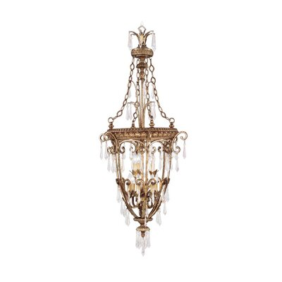 Foyer Chandeliers on Livex Lighting La Bella Nine Light Foyer Pendant In Vintage Gold Leaf