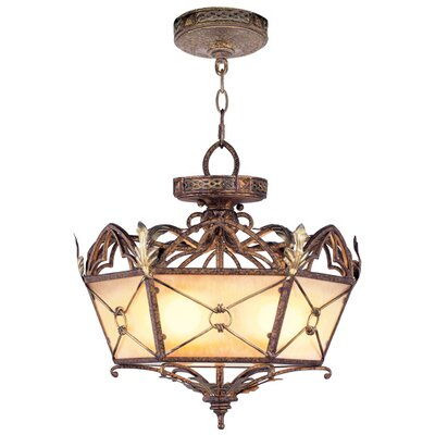 Bradner Convertible Pendant in Palacial Bronze with Gilded Accents Size: 17.5 H x 17.5 W x 17.5 D