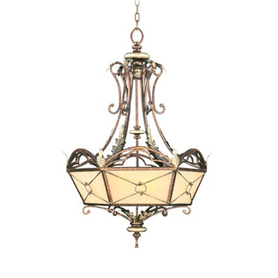 Bristol Manor Shaded Chandelier Size: 48.5 H x 34 W x 34 D