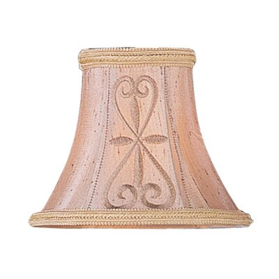 Traditional 6 Silk Bell Embroidered Candelabra Shade