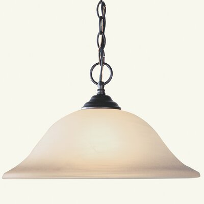 Lauritsen 1-Light Pendant Size: Small, Finish: Bronze