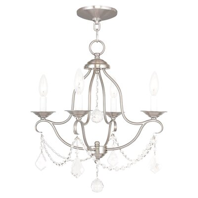 Isaiah 4-Light Candle-Style Chandelier