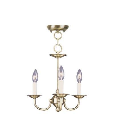Livex Lighting Home Basics 3 Light Mini Chandelier - Finish: Antique Brass at Sears.com