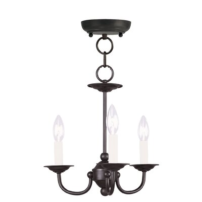Colesville 3-Light Candle-Style Chandelier Finish: Black