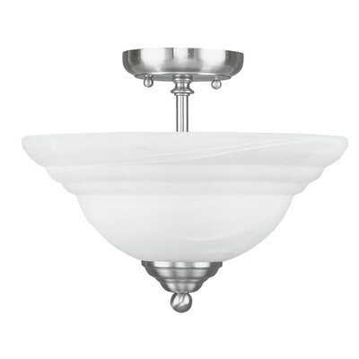 Brunette 2-Light Semi Flush Mount Finish: Brushed Nickel