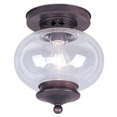 Harbor Semi Flush Mount Finish: Bronze, Size: 9.75 H x 9.5 W