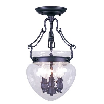 Braidwood 3-Light Convertible Foyer Pendant Finish: Black