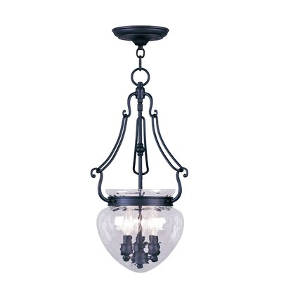 Braidwood Foyer Pendant Size: 22 H x 12 W x 12 D, Color: Black