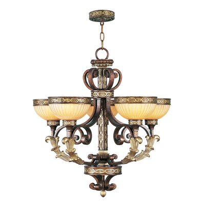 Schweizer Traditional 5-Light Shaded Chandelier