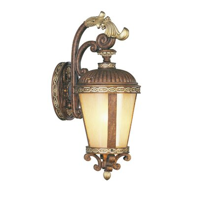 "Livex Lighting Seville Outdoor Wall Lantern in Palacial Bronze - Size: 23"" H x 9.25"" W x 12"" D at Sears.com"