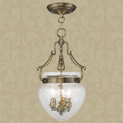 Braidwood 3-Light Convertible Foyer Pendant Color: Antique Brass