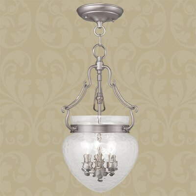 Braidwood 3-Light Convertible Foyer Pendant Finish: Brushed Nickel
