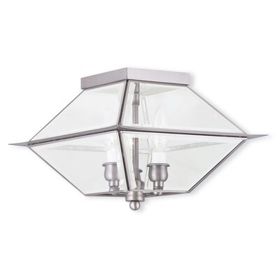 Orchard Lane 3-Light Flush Mount Finish: Brushed Nickel