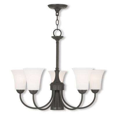 Grady Modern 5-Light Shaded Chandelier Finish: English Bronze