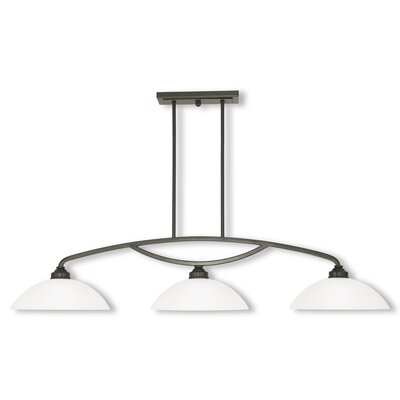 Irwin Bowl Shade 3-Light Kitchen Island Pendant Finish: English Bronze