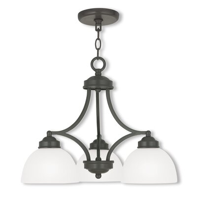 Irwin 3-Light Shaded Chandelier Finish: English Bronze