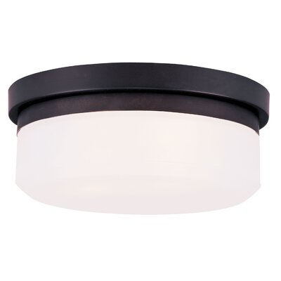 Cerie 2-Light Flush Mount Size: 4 H, Finish: Bronze