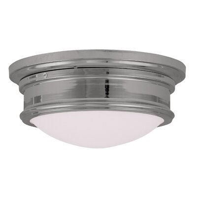 Alani 2-Light Flush Mount Size: 6.5 H x 15.5 W, Color: Chrome