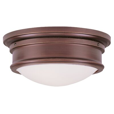 Alani 2-Light Flush Mount Size: 6.5 H x 15.5 W, Color: Vintage Bronze