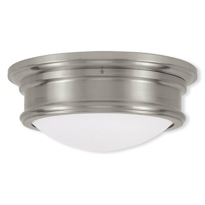 Alani 2-Light Flush Mount Size: 4.5 H x 15.5 W, Color: Brushed Nickel