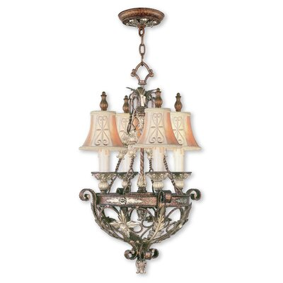 Browne 4-Light Shaded Chandelier