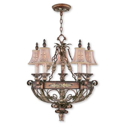 Browne 5-Light Shaded Chandelier