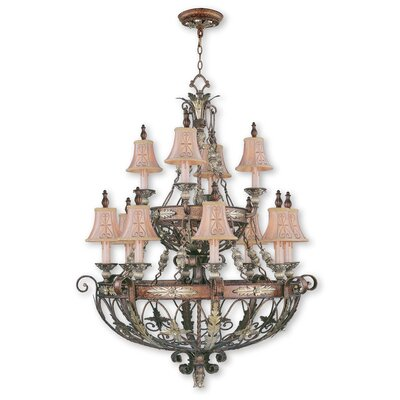 Browne 12-Light Shaded Chandelier