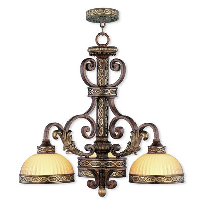 Schweizer 3-Light Shaded Chandelier