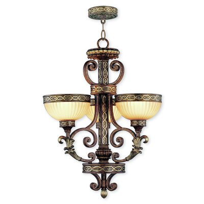 Schweizer Traditional 3-Light Shaded Chandelier