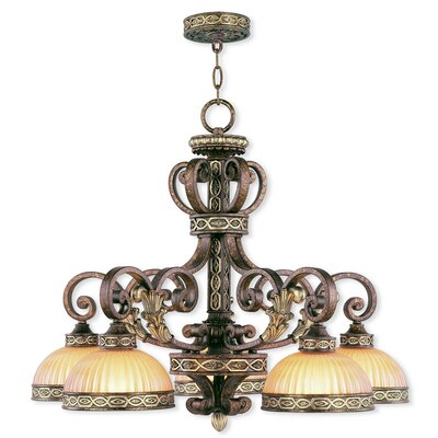 Schweizer 5-Light Shaded Chandelier