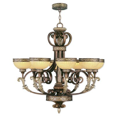 Schweizer 8-Light Shaded Chandelier