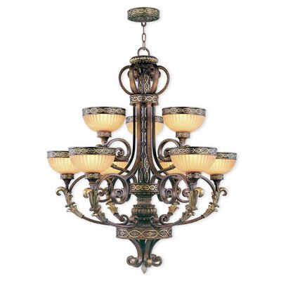 Schweizer 9-Light Shaded Chandelier