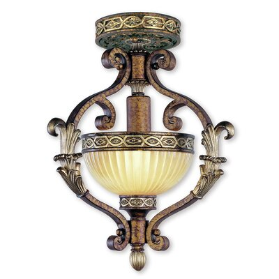 Schweizer 1-Light Convertible Inverted Pendant