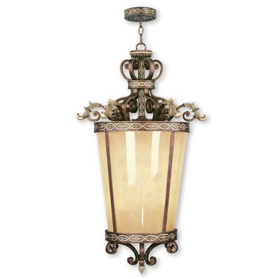 Schweizer 6-Light Foyer Pendant with Art Glass
