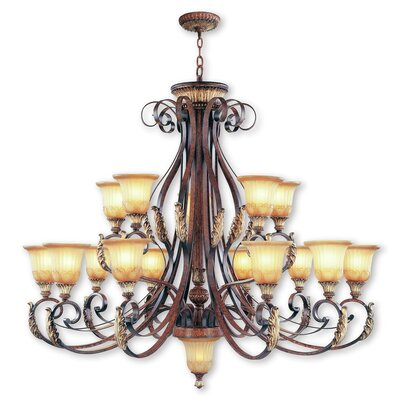 Scottdale 16-Light Shaded Chandelier