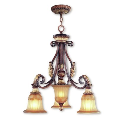 Scottdale 4-Light Shaded Chandelier