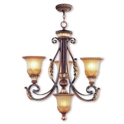 Scottdale Traditional 4-Light Shaded Chandelier