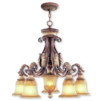Scottdale 6-Light Shaded Chandelier